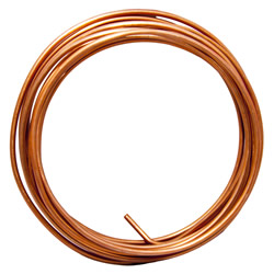 2 BARE SOLID COPPER WIRE (CUT REEL)