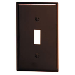 LEVITON 85001 1GANG BROWN SWITCH WALLPLATE