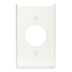 LEVITON 88004 1GANG WHITE SINGLE RECEPTACLE WALLPLATE 1.406-IN HOLE