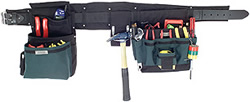 BOULDER ULT104BKM BLACK ELECTRICIAN COMFORT COMBO TOOL SET W/ MEDIUM BELT (32-36-IN)